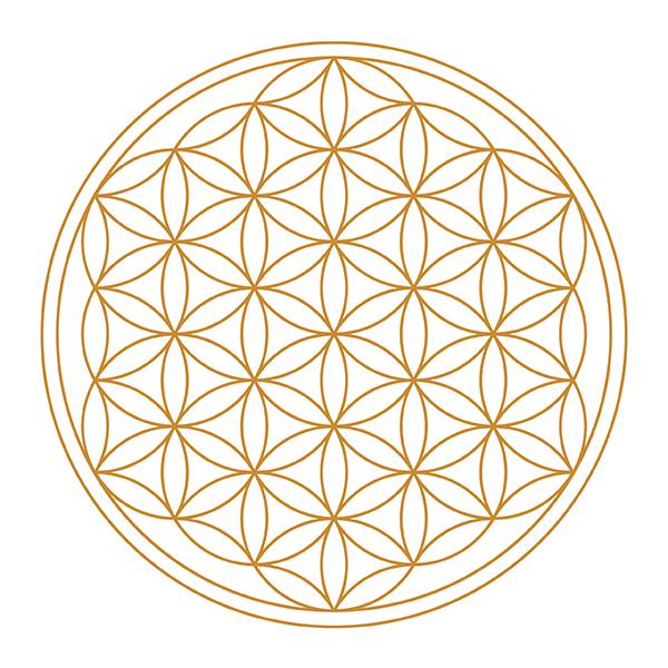 Lebensblume-gold